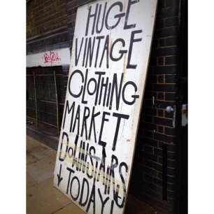 Vintage market in Shoreditch, East London