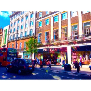 shopping on Oxford Street