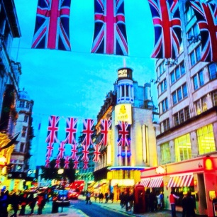 Picadilly Circus during the 2012 summer Olympics