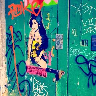 Street Art of Amy Winehouse in Camden Town