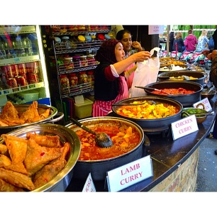 ethnic food at Camden Market