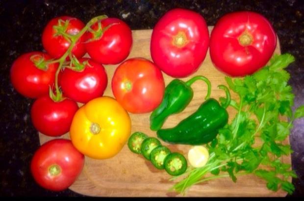 My gazpacho prep