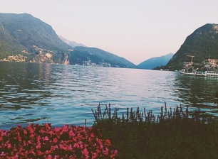 Lake Lugano, Switzerland...Italy is across the water