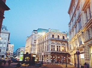 magical Vienna at night