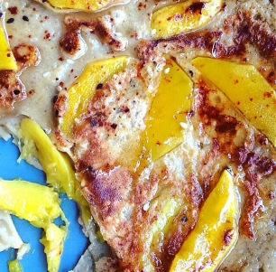 mango pancake dessert