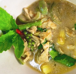 homemade Green curry
