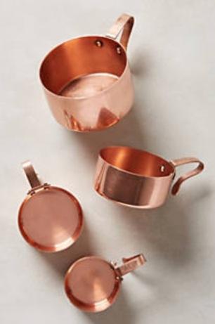 copper measuring cut set, Anthropologie