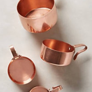 copper measuring cut set, Anthropologie