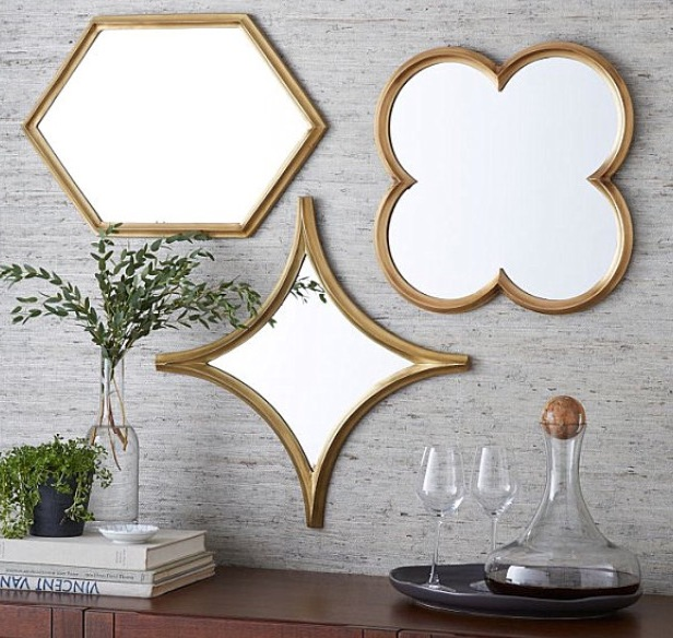 West Elm mirror trio