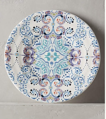 swirled symmetry side plate, Anthropologie
