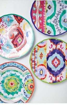 Hacienda melamine plates, Anthropologie