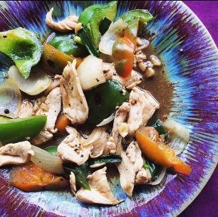Black pepper stir fry w| chicken