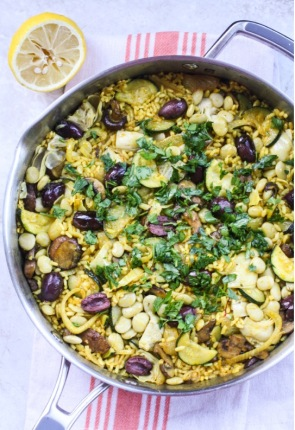 veggie paella via Orchard Street Kitchen